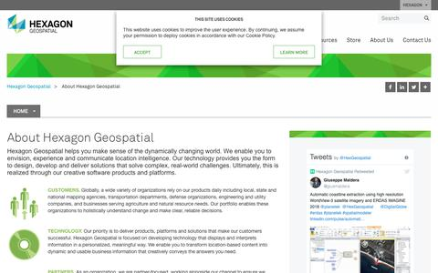 Screenshot of About Page hexagongeospatial.com - About Us | Hexagon Geospatial - captured Sept. 28, 2018
