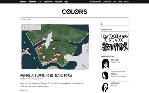 Screenshot of Blog colorsmagazine.com - Blog | COLORS Magazine - captured Sept. 19, 2014