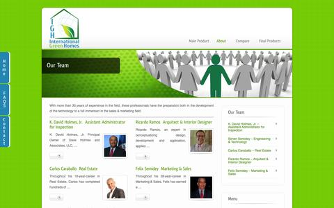 Screenshot of Team Page ingreenhomes.com - Team | International Green Homes - captured Oct. 6, 2014