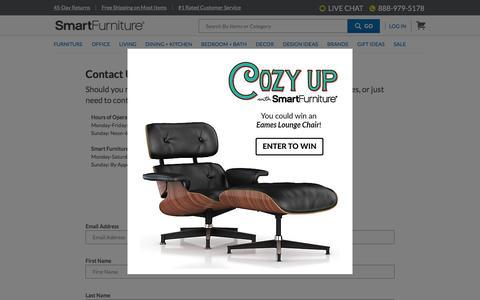 Screenshot of Contact Page smartfurniture.com - Contact Us | SmartFurniture.com - captured Dec. 4, 2015