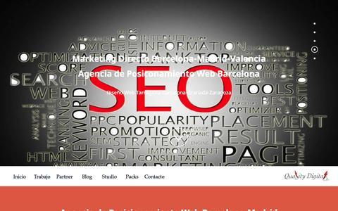 Screenshot of Home Page quality-digital.com - Agencia SEO Barcelona|Marketing Directo Madrid|Quality Digital - captured March 23, 2016