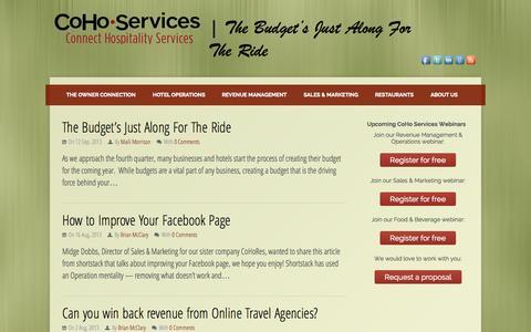 Screenshot of Press Page cohoserv.com - News Archives - CoHo Services - captured Oct. 2, 2014