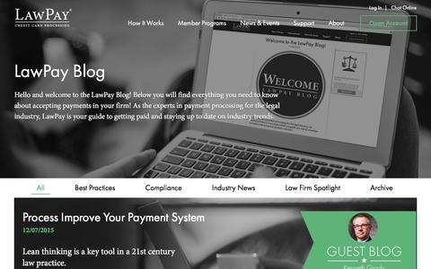 Screenshot of Blog lawpay.com - Blog | LawPay - captured Dec. 8, 2015