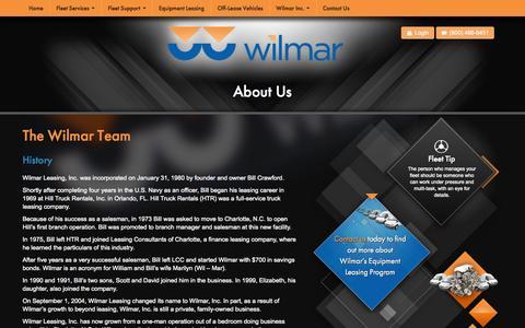 Screenshot of About Page wilmarinc.com - The Wilmar Team - captured Oct. 26, 2014