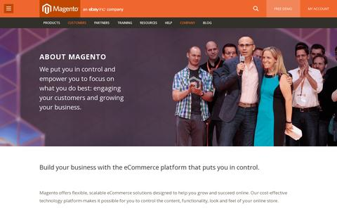 Screenshot of About Page magento.com - The Best Ecommerce Platform - About Magento - captured July 21, 2014