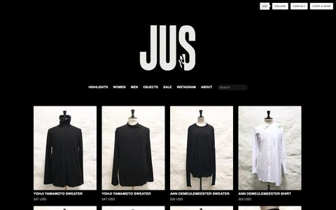 Screenshot of Products Page tictail.com - JUS - captured Oct. 14, 2018