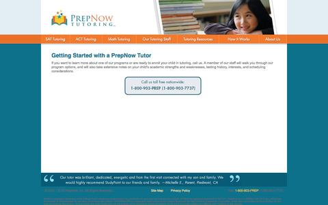 Personalized tutoring by PrepNow:  SAT tutoring, ACT tutoring, PSAT tutoring, ISEE tutoring, SSAT tutoring, math tutoring, science tutoring, english tutoring and in-home tutoring.