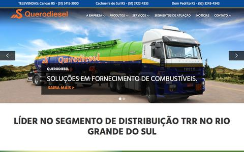Screenshot of Home Page querodiesel.com.br - Querodiesel - captured May 24, 2017