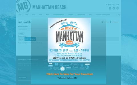 Screenshot of Jobs Page manhattanbeachchamber.com - - Manhattan Beach Chamber of Commerce - captured Oct. 5, 2017