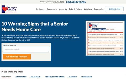 Screenshot of Blog caringseniorservice.com - Caring Senior Service Blog | Keeping seniors Healthy, Happy, Home. - captured March 16, 2019