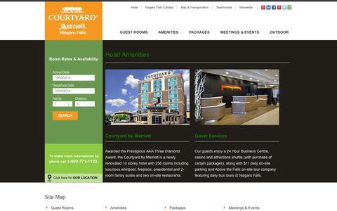 Screenshot of Site Map Page nfcourtyard.com - Site Map | Courtyard by Marriott Niagara Falls Hotel - captured Oct. 3, 2014