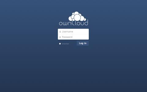 Screenshot of Login Page ataerospace.com - ownCloud - captured Nov. 2, 2014
