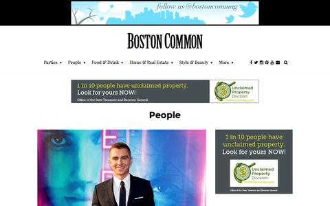 Screenshot of Team Page bostoncommon-magazine.com - Boston's Top Celebrities and Notable People - captured July 30, 2016