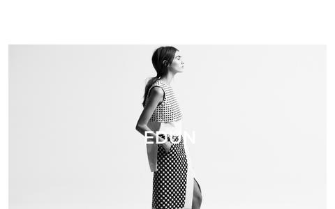 Screenshot of Home Page edun.com - EDUN - captured July 11, 2014