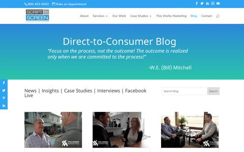 Screenshot of Blog scripttoscreen.com - Blog - Script to Screen - captured Nov. 2, 2019