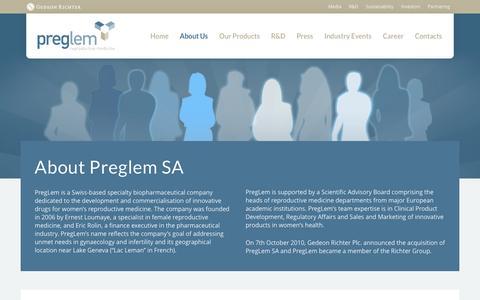 Screenshot of About Page preglem.com - PregLem - About Us - PregLem.com - captured Jan. 26, 2016