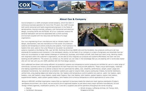 Screenshot of About Page coxandco.com - About Us - Cox & Company, Inc. - captured Nov. 13, 2016