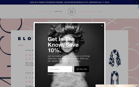 Screenshot of Menu Page glamandgo.com - membership — glam+go - captured July 7, 2018
