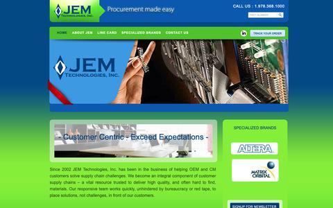 Screenshot of Home Page jemtechnologies.com - JEM Technologies - Procurement Made Easy : JEM Technologies - captured Dec. 17, 2018