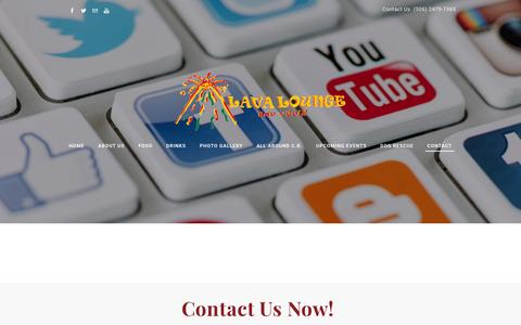 Screenshot of Contact Page lavaloungecostarica.com - Contact - Lava Lounge Costa Rica - captured Jan. 26, 2016