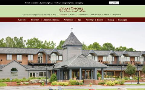 Screenshot of Contact Page opecheeinn.com - Laconia, NH Hotel Reservations - Lake Opechee Inn and Spa - captured Dec. 13, 2018