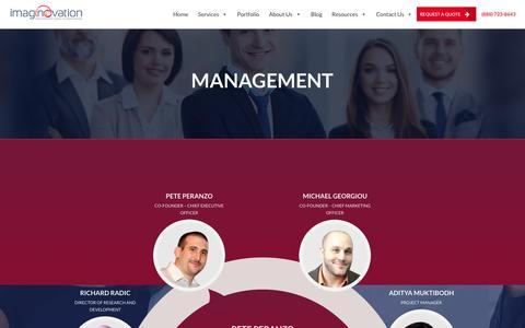Screenshot of Team Page imaginovation.net - Imaginovation Team - captured Oct. 22, 2015