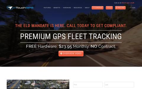 Screenshot of Home Page intouchgps.com - InTouch GPS   GPS Fleet Tracking Devices   The Best Fleet Tracking Software - captured Nov. 3, 2018