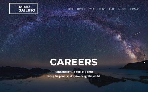 Screenshot of Jobs Page mindsailing.com - Careers — Mindsailing - captured Nov. 17, 2018