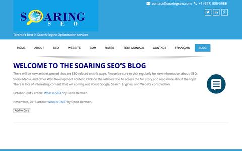 Screenshot of Blog soaringseo.com - Blog – Soaring SEO - captured Jan. 30, 2016