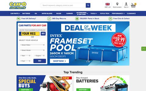 Screenshot of Home Page eurocarparts.com - Euro Car Parts   Car Parts Online & In Store – FREE UK Delivery - captured July 4, 2019