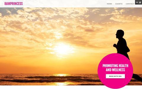 Screenshot of Home Page rawprincess.org - rawprincess - captured Oct. 21, 2018