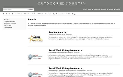 Awards | Outdoor and Country