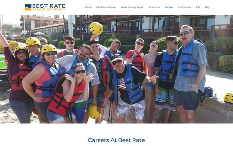 Screenshot of Jobs Page best-rate-repair.com - Careers at Best Rate | Best Rate Repair & Construction - captured Oct. 5, 2018