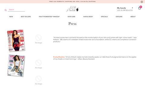 Screenshot of Press Page 100percentpure.com - Press | 100% PURE - captured Jan. 17, 2019