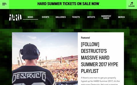 Screenshot of Press Page hardfest.com - News | Hardfest - captured May 15, 2017