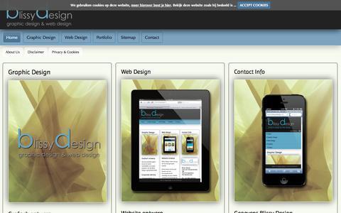 Screenshot of Home Page blissydesign.nl - Blissy Design | Graphic Design & Web Design | Home Portal - captured Sept. 30, 2014