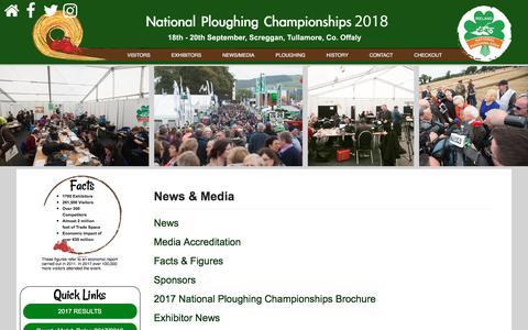 Screenshot of Press Page npa.ie - News & Media   - captured Oct. 19, 2017