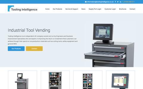 Screenshot of Home Page toolingintelligence.co.uk - Welcome To Tooling Intelligence - Tooling Intelligence - captured Dec. 2, 2016