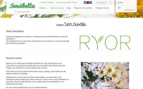 Screenshot of About Page sensibella.es - Quienes Somos     Sensibella - captured Oct. 7, 2014