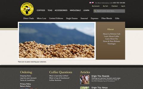 Screenshot of Blog labohemecafe.eu - La Boheme Cafe - Blog - captured Oct. 1, 2014