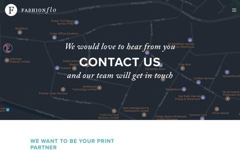 Screenshot of Contact Page fashionflo.ie - Fashionflo Limited — Contact Us - captured Aug. 12, 2018