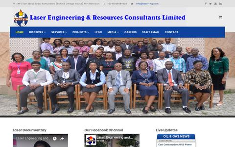 Screenshot of Home Page laser-ng.com - Welcome to Laser Engineering and Resources Consultants Limited | Home - captured Sept. 27, 2018