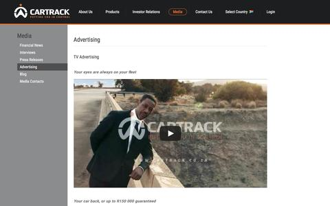 Screenshot of Press Page cartrack.co.za - Advertising | Cartrack - captured Dec. 7, 2015