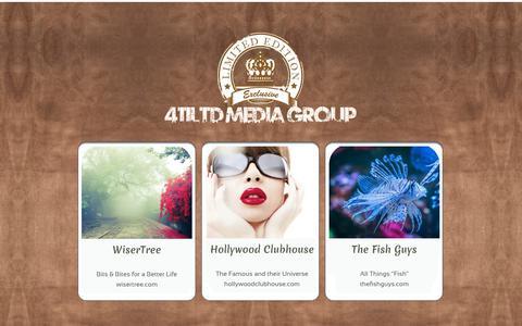 Screenshot of Home Page 411ltd.com - 411LTD Media Group - captured Oct. 20, 2018