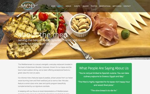 Screenshot of About Page themedboulder.com - About   The Mediterranean Restaurant - captured Oct. 6, 2014