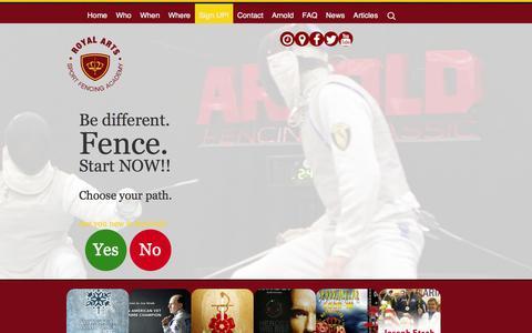 Screenshot of Signup Page royalarts.org - Class Registration   Royal Arts Fencing Academy - captured Oct. 7, 2014