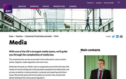 Screenshot of Press Page rpc.co.uk - Media | RPC - captured Dec. 19, 2016
