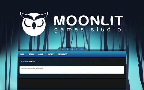 Screenshot of About Page moonlit.pl - About Us - Moonlit Games Studio - captured Nov. 3, 2014