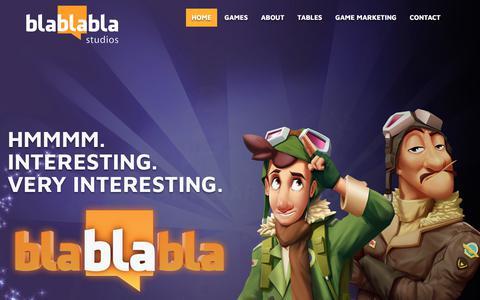 Screenshot of Home Page blablablastudios.com - Bla Bla Bla Studios – Bla Bla Bla character animation |  blablabla studios | Game Design, Illustration, Slots Graphics, Animation – Game Design, Illustration, Slots Graphics, Animation - captured Sept. 25, 2018