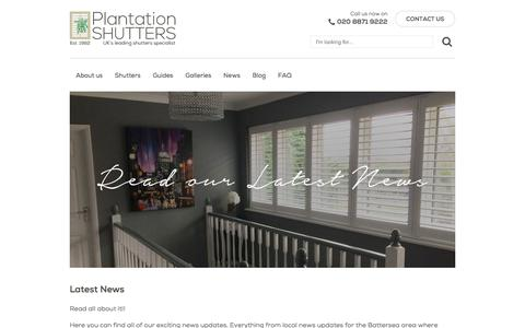 Screenshot of Press Page plantation-shutters.co.uk - Latest News | Window Shutters | Plantation Shutters London - captured Aug. 9, 2017